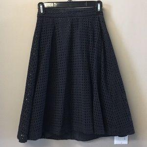 Eyelit a-line skirt
